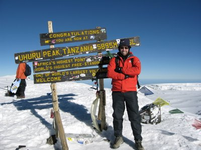 Rob on top of Africa