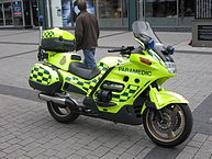 """Motorcycle paramedic London Ambulance Service"" by Derek Blackadder from Cobourg, ON, Canada - IMG_3162. Licensed under Creative Commons Attribution 2.0 via Wikimedia Commons - http://commons.wikimedia.org/wiki/File:Motorcycle_paramedic_London_Ambulance_Service.jpg#mediaviewer/File:Motorcycle_paramedic_London_Ambulance_Service.jpg"