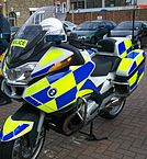 """Bedfordshire Police Motorcycle"" by Acather96 - Own work. Licensed under Creative Commons Attribution 3.0 via Wikimedia Commons - http://commons.wikimedia.org/wiki/File:Bedfordshire_Police_Motorcycle.JPG#mediaviewer/File:Bedfordshire_Police_Motorcycle.JPG"