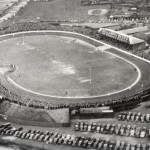 Aerial shot of the Firs speedway Stadium Norwich