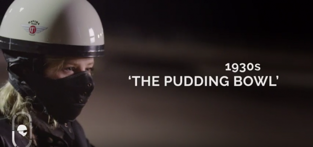 Pudding bowl helmet