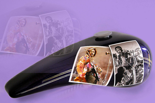 Jimi Hendrix custom paint motorcycle
