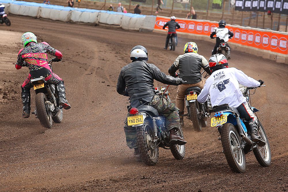 Rear view of action from Dirt Quake V