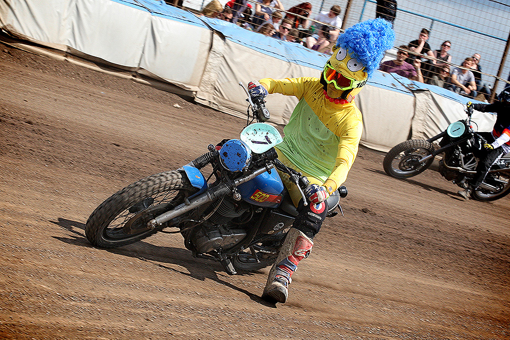 Marge Simpson in action at Dirt Quake V