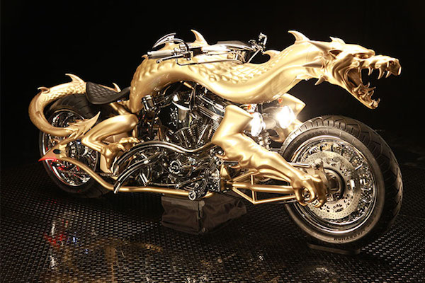 Custom dragon motorcycle
