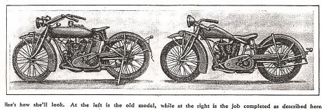 Early cut down motorcycle
