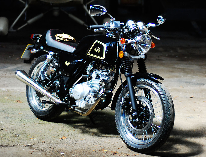The all-new AJS Cadwell cafe racer