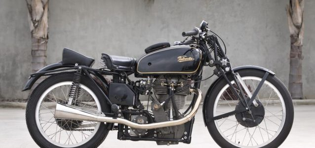 1937 Velocette Works 500 racing motorcycle