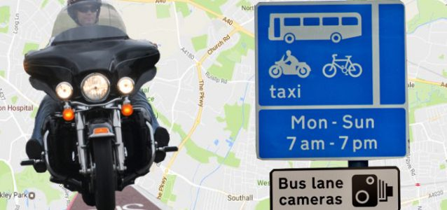 Bus lane motorcycle laws