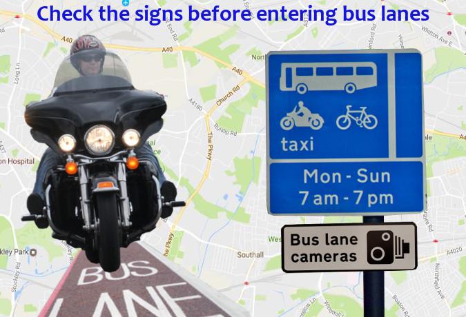 Bus lane motorcycle laws