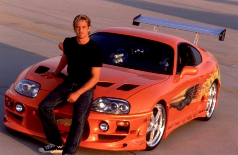 Paul Walker with the Toyota Supra from The Fast and the Furious