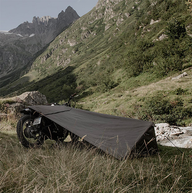 camping with motorcycle