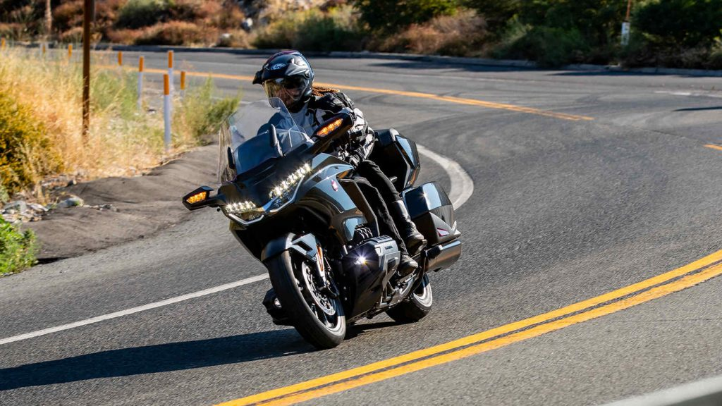 The Honda Goldwing 1800 on the road