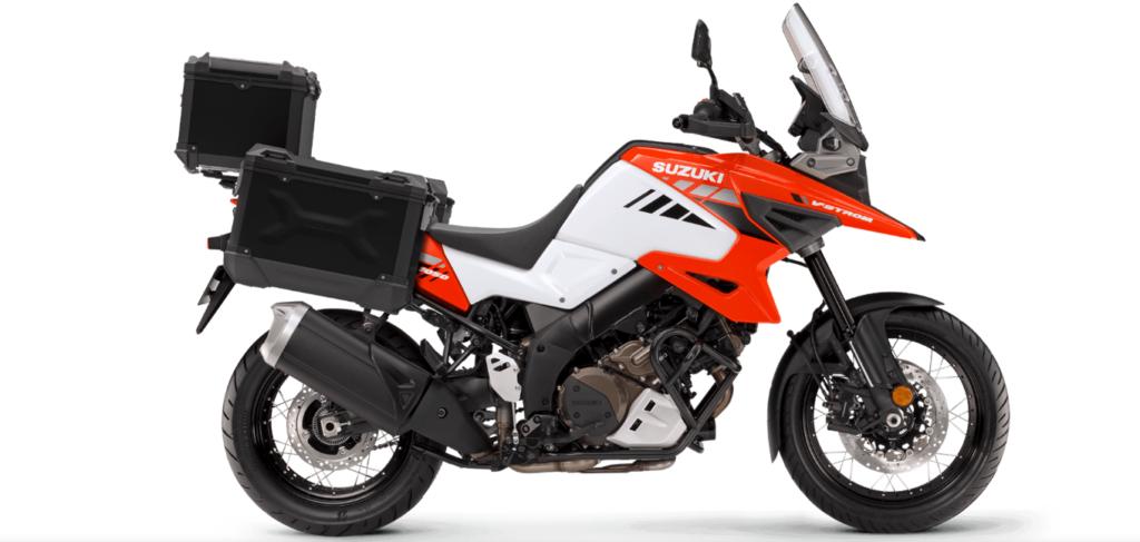 Suzuki V Strom 1050 on white background