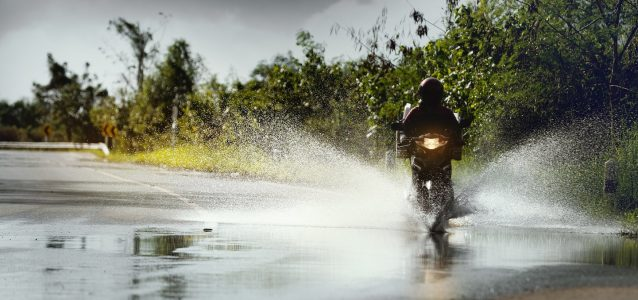 motorcycling in the rain