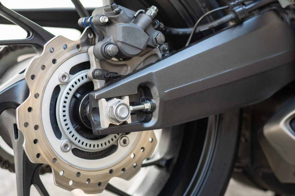 Close up image of ABS on motorcycle