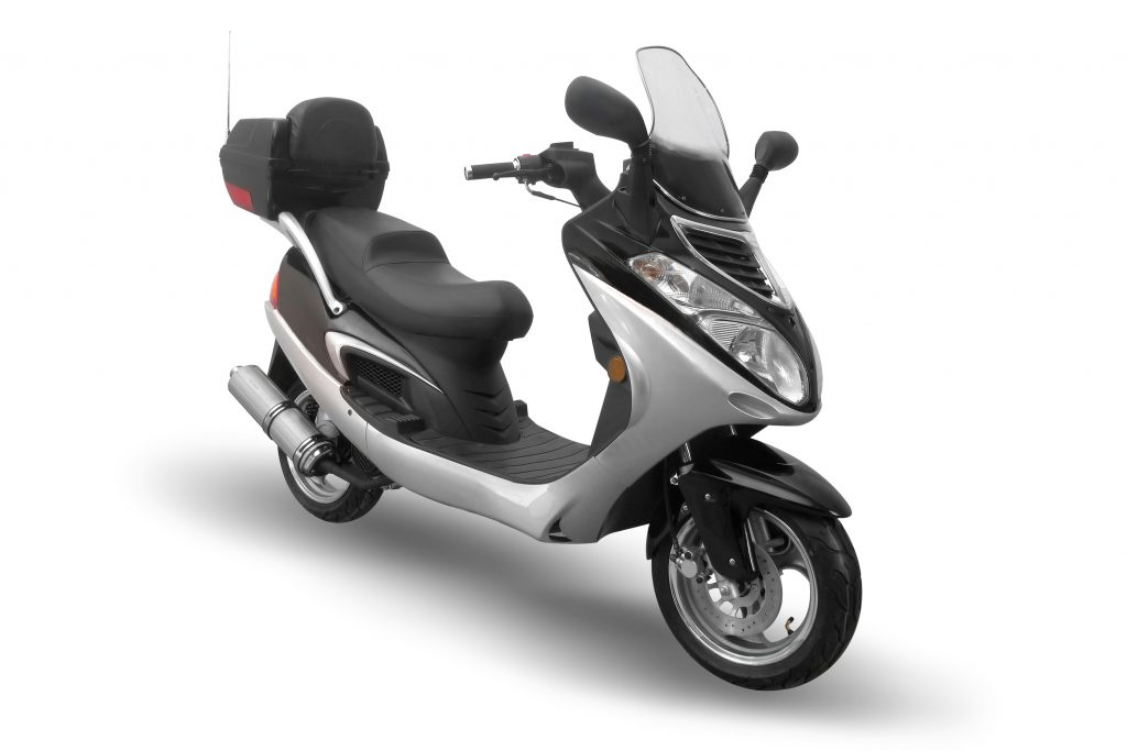 Moped on a white background